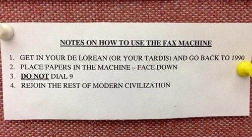 fax machine time machine