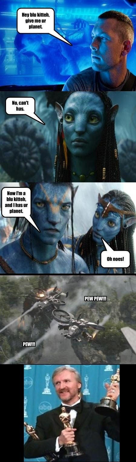 james cameron Movie lolspeak Avatar