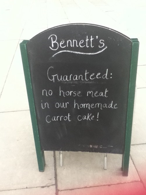Horse Meat chalkboards if you say so