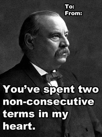 grover cleveland,valentine,card