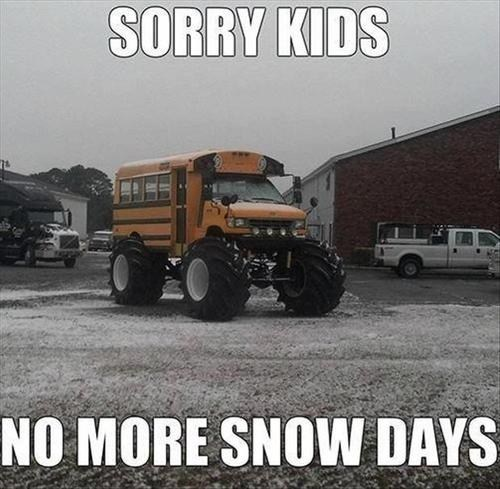 school bus tires snow days School of FAIL - 7064216832