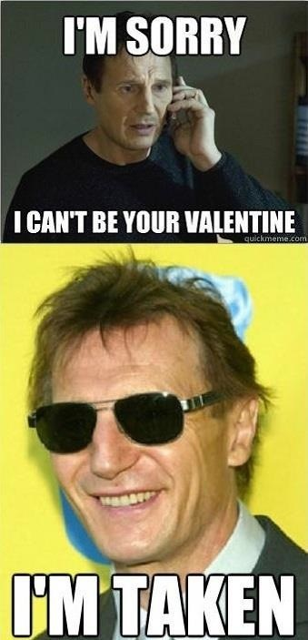 taken,liam neeson,rejection,double meaning,Valentines day