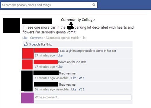 forever alone Valentines day failbook g rated - 7064242688