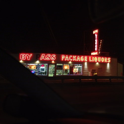 mistakes,neon signs,liquor store