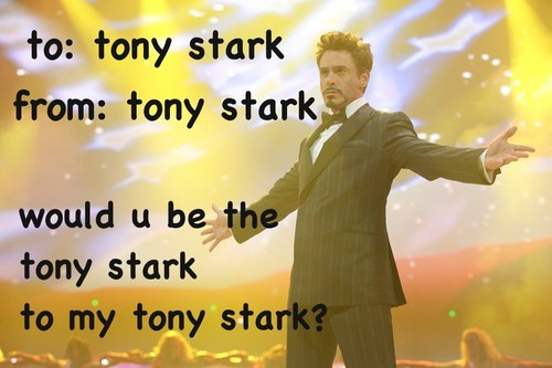 robert downey jr iron man Valentines day - 7064330752