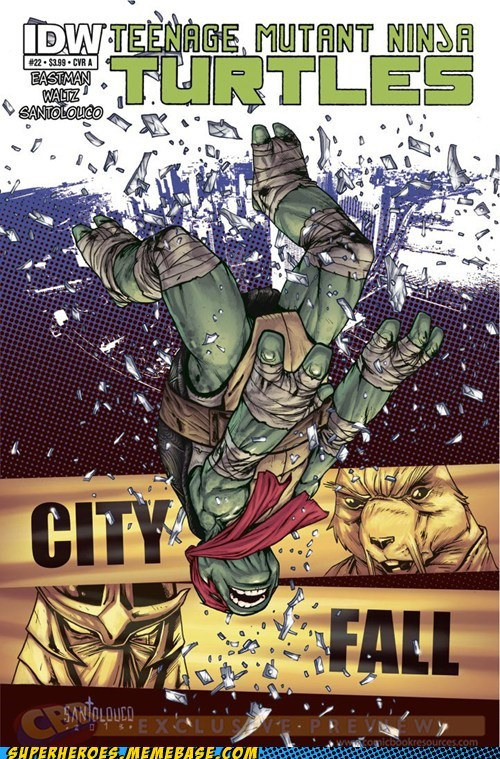 city fall,TMNT,off the page