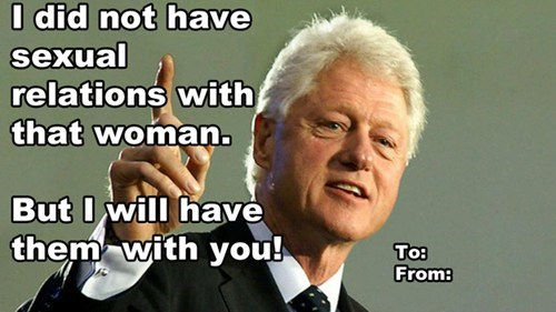 cards,Valentines day,bill clinton