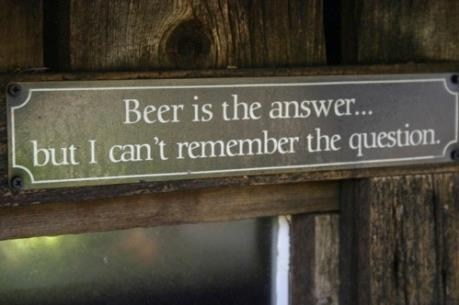 beer alcohol sayings the answer - 7064547840