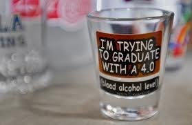 shot glasses,alcohol,blood alcohol level,graduating