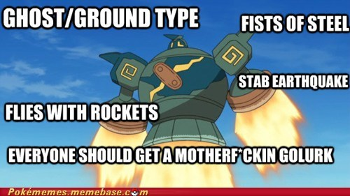 master race,Pokémon,golurk,gen V