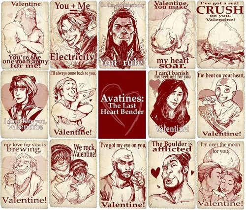 pickup lines Avatar the Last Airbender Avatar Valentines day - 7064693504