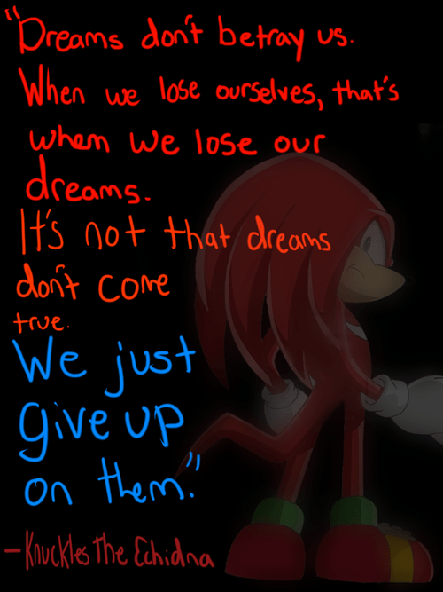 knuckles,quote,wise words,sonic