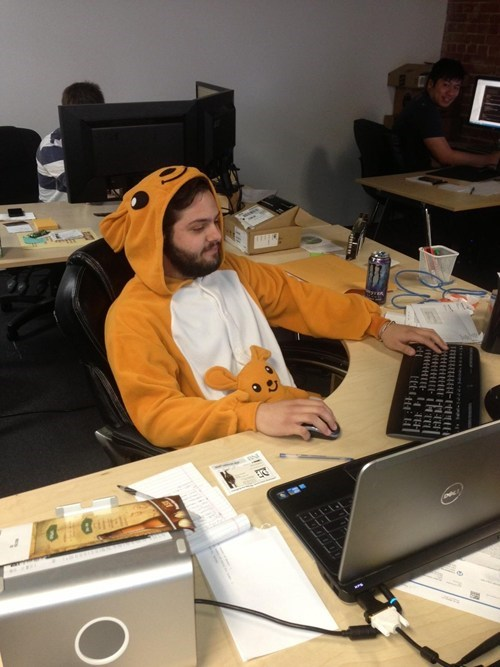 Pokémon,Office,pikachu,costume,poorly dressed,g rated