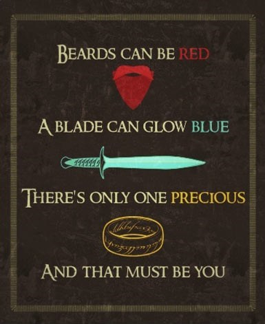 Lord of the Rings poems Valentines day - 7064849408