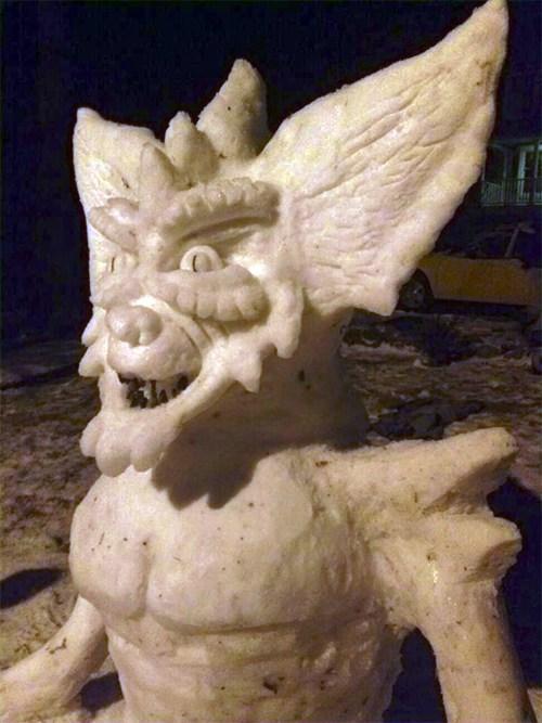 sculpture nerdgasm gremlin snowman - 7065016576