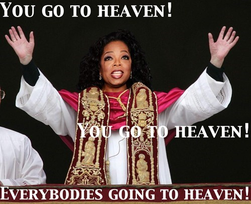 you get an x,pope,oprah