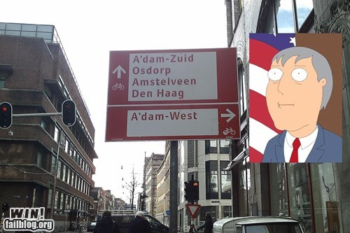 sign road Adam West