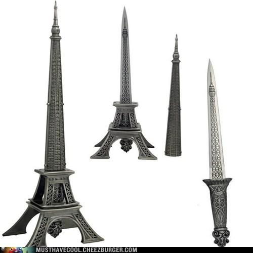 knives statue hidden eiffel tower - 7066297344