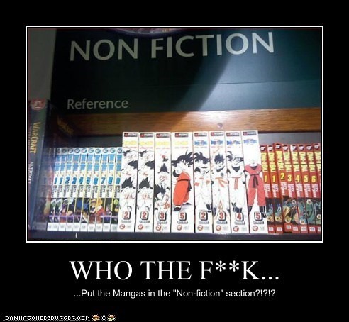 "WHO THE F**K... ...Put the Mangas in the ""Non-fiction"" section?!?!?"