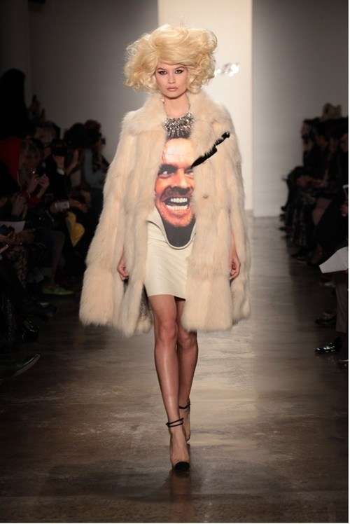 jack nicholson,heres-johnny,runway fashion,the shining