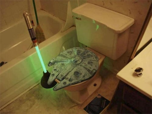 light saber toilet wars funny