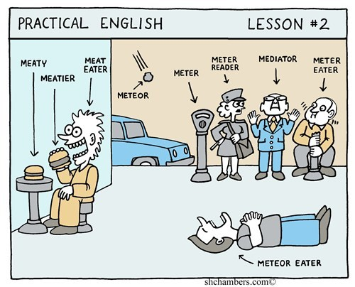 ESL,meteor,meatier,english,g rated,School of FAIL