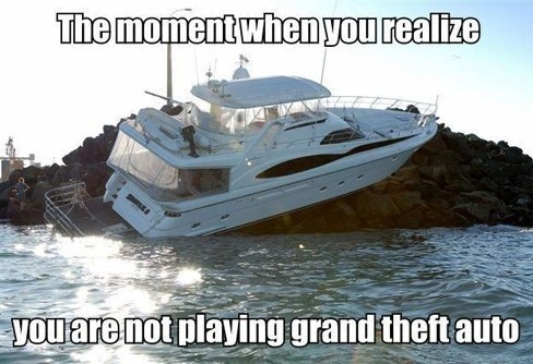 IRL stranded Grand Theft Auto boat - 7066836992