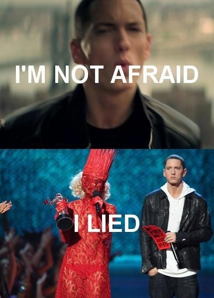 lyrics,eminem,lady gaga