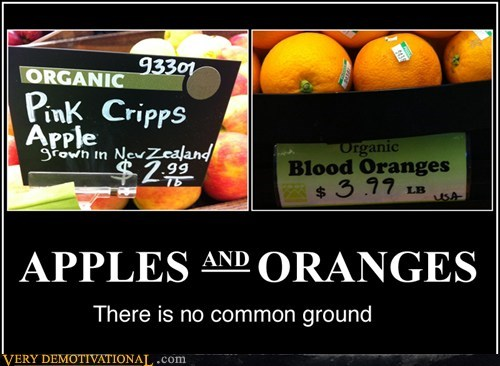 oranges,apples,common ground