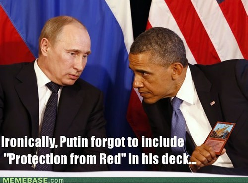 magic the gathering barack obama Vladimir Putin politics - 7066929152