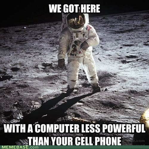 space travel,cell phones,moon landing