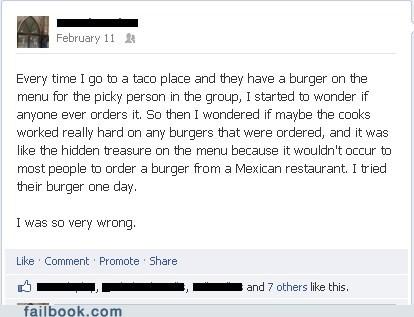 burger pizza mexican restaurant fast food failbook g rated - 7067111936