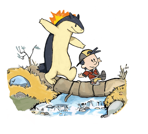 crossover Pokémon mashup calvin and hobbes typhlosion - 7067130112