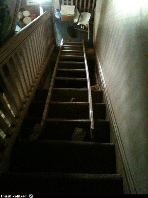 """Honey, I fixed the stairs!"""