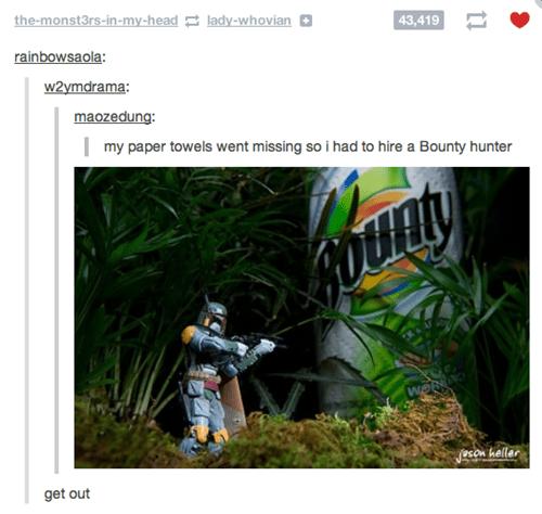 bounty,brand,bounty hunter,boba fett,paper towel