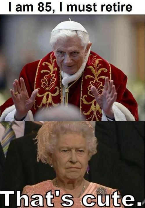 Queen Elizabeth II,pope,retirement