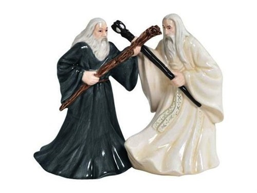 saruman Lord of the Rings salt and pepper shakers gandalf wizards - 7067262976