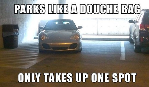douchebag cars parking
