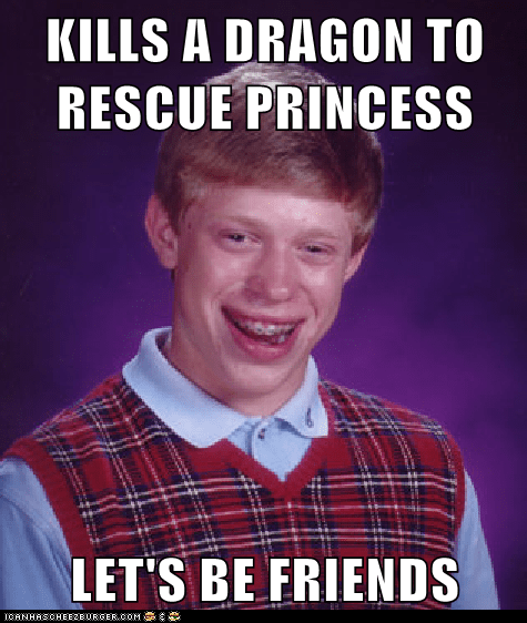 bad luck brian video games friend zone princesses - 7067387136