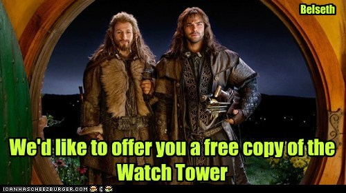 aidan turner Dean O'Gorman kili soliciting The Hobbit fili jehovahs witnesses - 7067531520