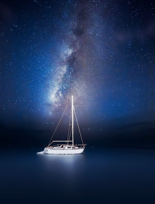photography,milky way,ocean,night
