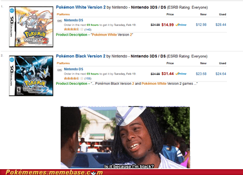 amazon pokemon black 2 pokemon white 2 prices