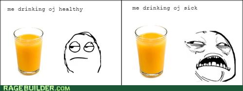 orange juice flu sweet jesus sick - 7067871744