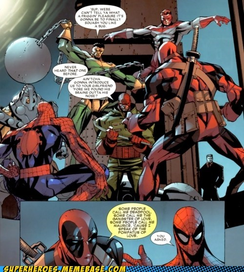 Spider-Man deadpool off the page names - 7067961088