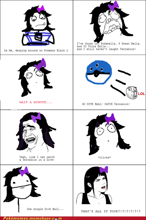 terrakion,dive ball,Rage Comics