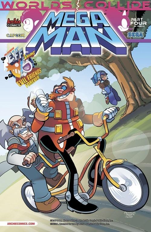 crossover megaman comics sonic - 7068520192