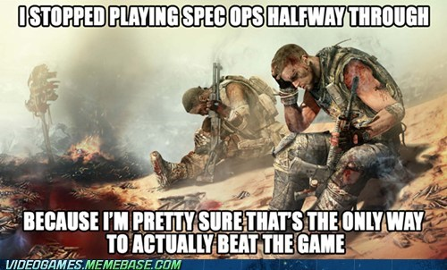 spec ops,beating the game,hate yourself