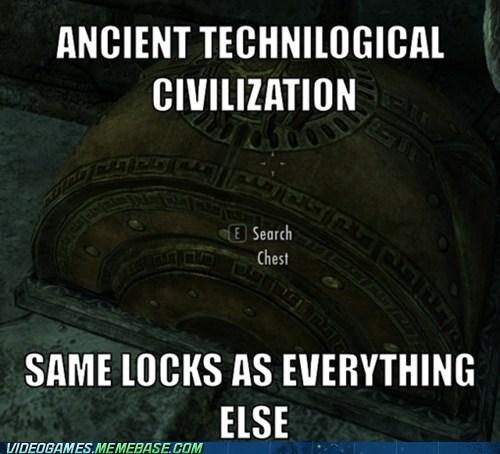 locks video game logic Skyrim - 7070015488