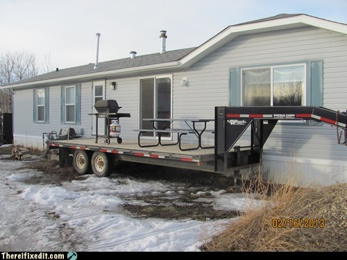 trailers deck redneck patio g rated there I fixed it