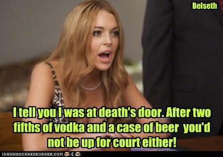 lindsay lohan court drunk sick - 7070131712